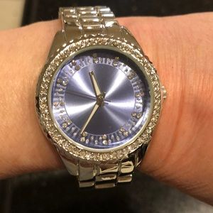 Jewelry - Lilac face crystal watch.